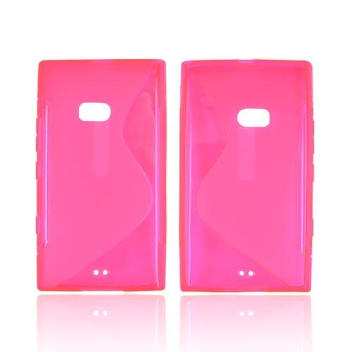 Nokia Lumia 900 Crystal Silicone Case - Transparent Hot Pink S