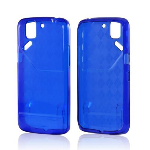 Argyle Blue Crystal Silicone Case for Pantech Flex