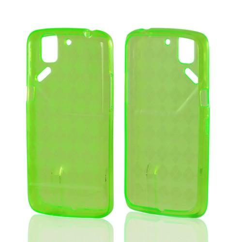 Argyle Green Crystal Silicone Case for Pantech Flex