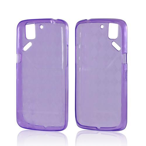 Argyle Purple Crystal Silicone Case for Pantech Flex