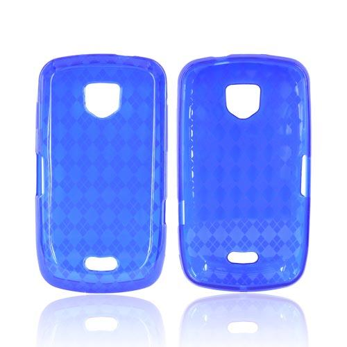 Samsung Droid Charge Crystal Silicone Case - Argyle Blue