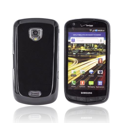 Samsung Droid Charge Crystal Silicone Case - Black (Argyle Interior)