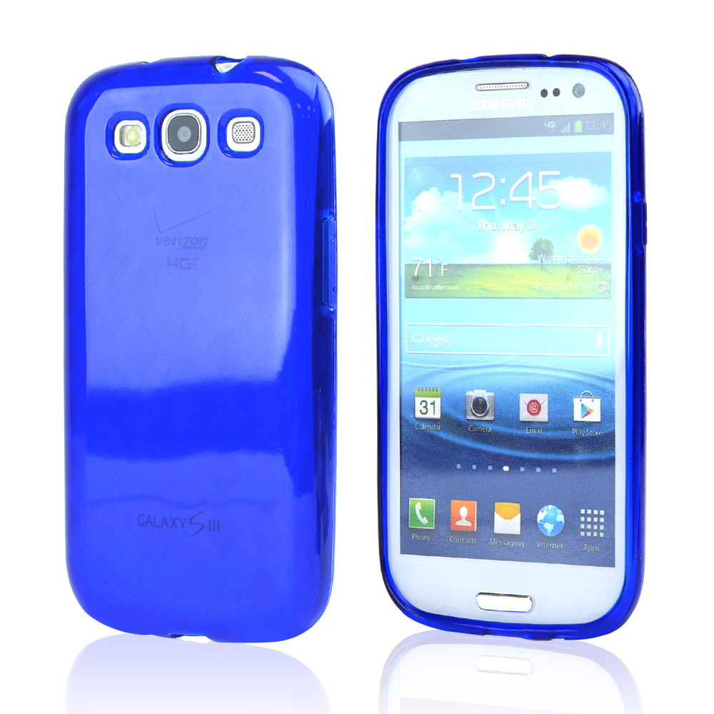 Samsung Galaxy S3 Crystal Silicone Case - Argyle Blue