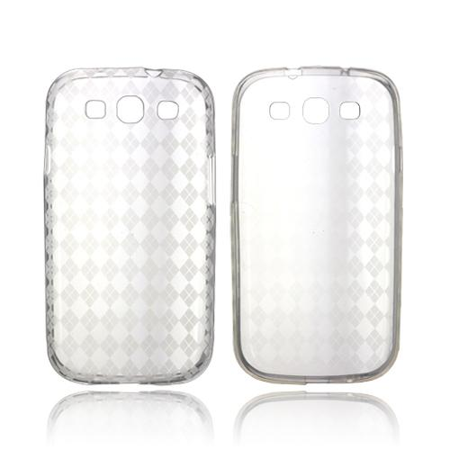 Samsung Galaxy S3 Crystal Silicone Case - Argyle Clear