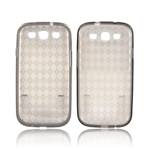 Samsung Galaxy S3 Crystal Silicone Case - Argyle Smoke