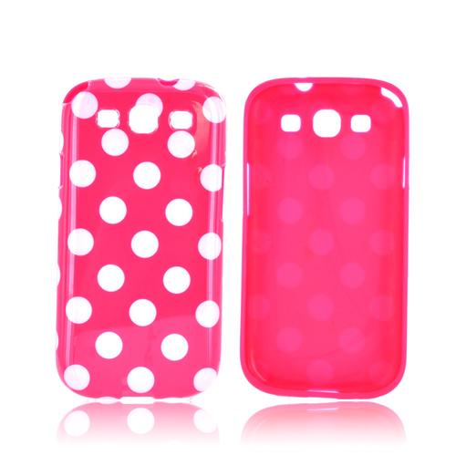 Samsung Galaxy S3 Crystal Silicone Case - White Polka Dots on Pink