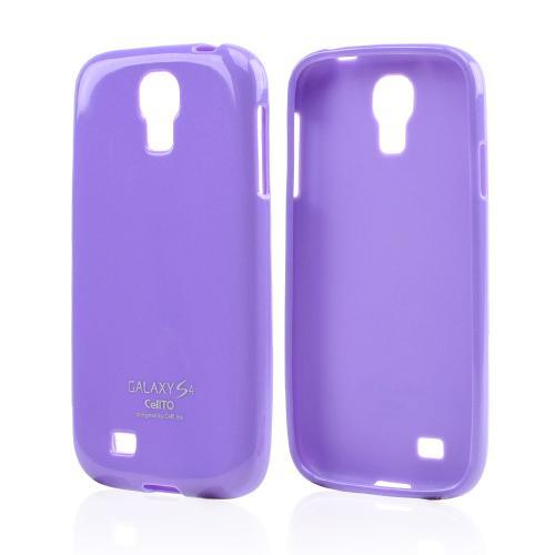 Lavender Glitter CellLine Crystal Silicone Skin Case for Samsung Galaxy S4