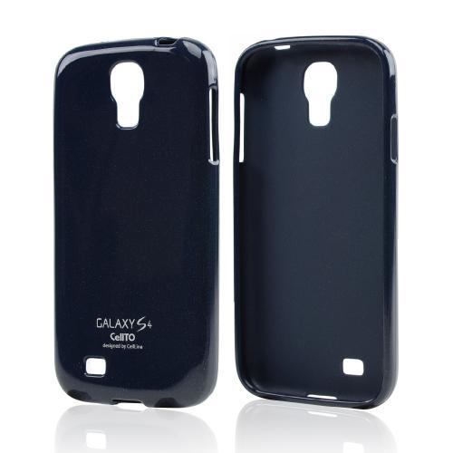 Dark Navy Glitter CellLine Crystal Silicone Skin Case for Samsung Galaxy S4