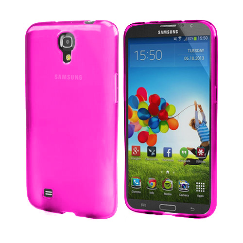 Purple Crystal Silicone Skin Case for Samsung Galaxy Mega 6.3
