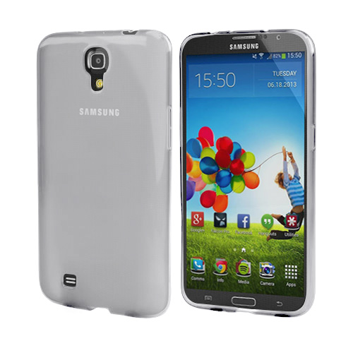 Smoke Crystal Silicone Skin Case for Samsung Galaxy Mega 6.3