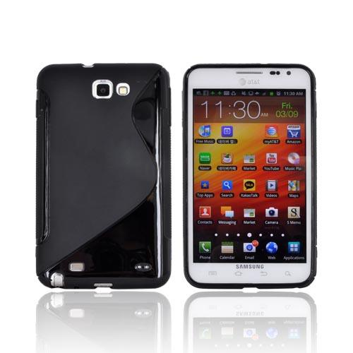 Samsung Galaxy Note Crystal Silicone Case - Black S