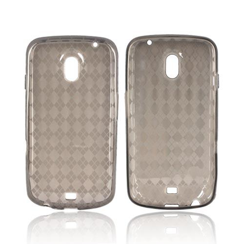 Samsung Galaxy Nexus Crystal Silicone Case - Argyle Smoke