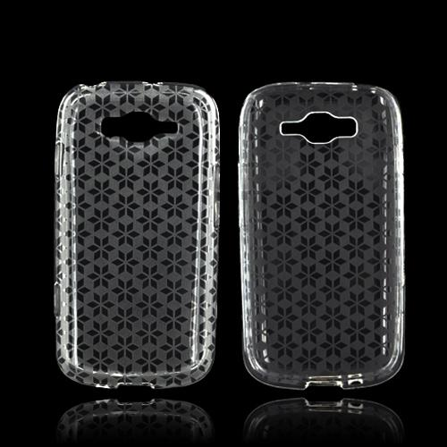Samsung Focus 2 Crystal Silicone Case - Clear Hex Star