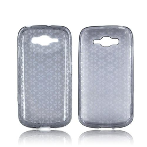 Samsung Focus 2 Crystal Silicone Case - Smoke Hex Star
