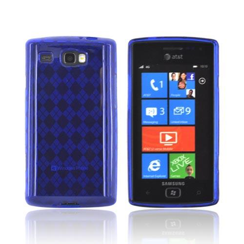 Samsung Focus Flash i677 Crystal Silicone Case - Argyle Blue