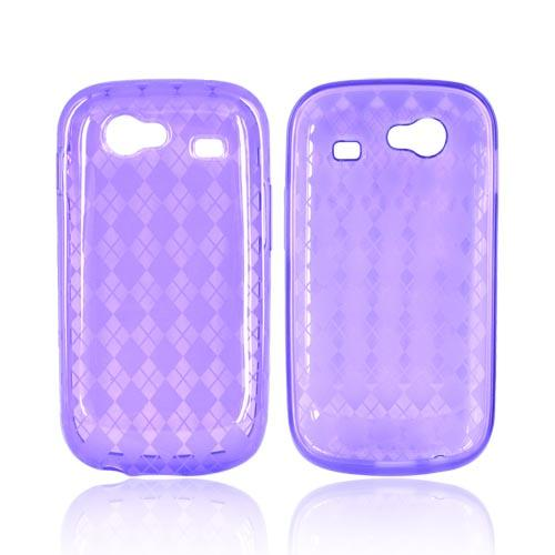Google Nexus S Crystal Silicone Case - Argyle Design on Purple