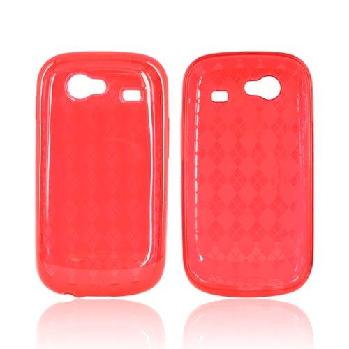 Google Nexus S Crystal Silicone Case - Argyle Red