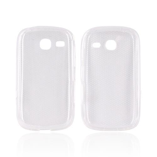Samsung Freeform 3 Crystal Silicone Case - Airplane Print on Clear