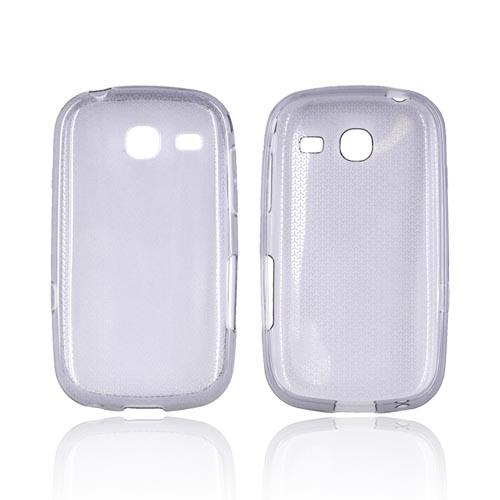 Samsung Freeform 3 Crystal Silicone Case - Airplane Print on Smoke