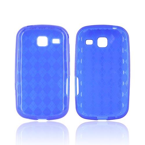Samsung Freeform 3 Crystal Silicone Case - Argyle Blue
