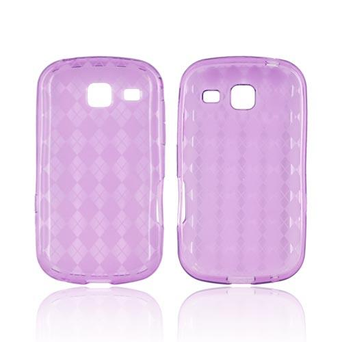 Samsung Freeform 3 Crystal Silicone Case - Argyle Purple
