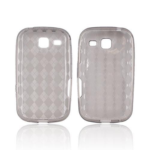 Samsung Freeform 3 Crystal Silicone Case - Argyle Smoke