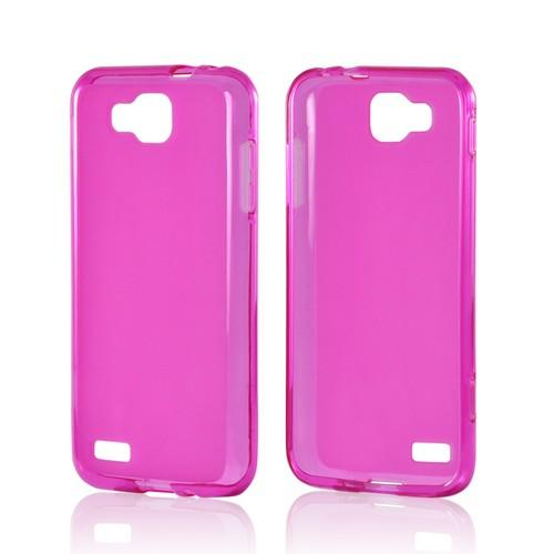 Hot Pink Matte Crystal Silicone Case w/ Polished Border for Samsung T899