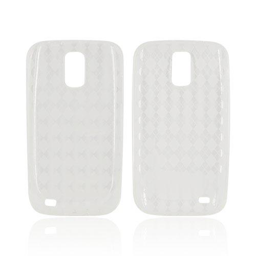 T-Mobile Samsung Galaxy S2 Crystal Silicone Case - Argyle Clear