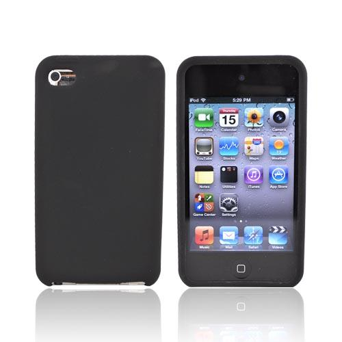 Apple iPod Touch 4 Crystal Silicone Case - Rubberized Black
