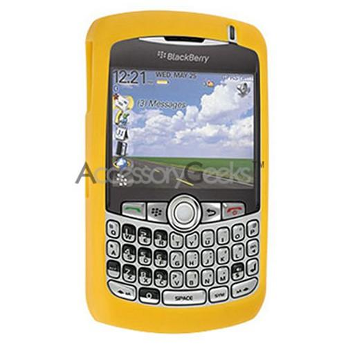 BlackBerry Curve 8330, 8320, 8310, 8300 Silicone Case, Rubber Skin - Yellow