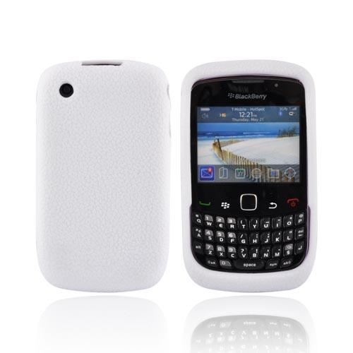 Blackberry Curve 3G 9330, 9300, 8520, 8530 Textured Silicone Case - White