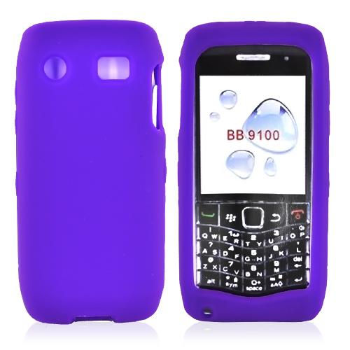 Blackberry Pearl 3G 9100/9105 Silicone Case, Rubber Skin - Purple