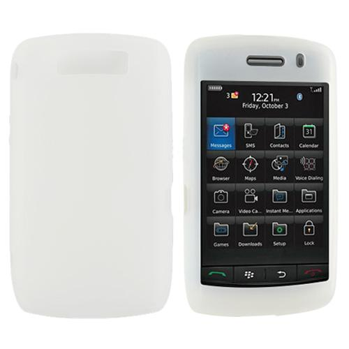 Blackberry Storm 2 Silicone Case, Rubber Skin - Frost White