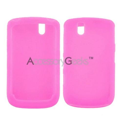 Blackberry Bold 9650 & Tour 9630 Silicone Case, Rubber Skin - Hot Pink