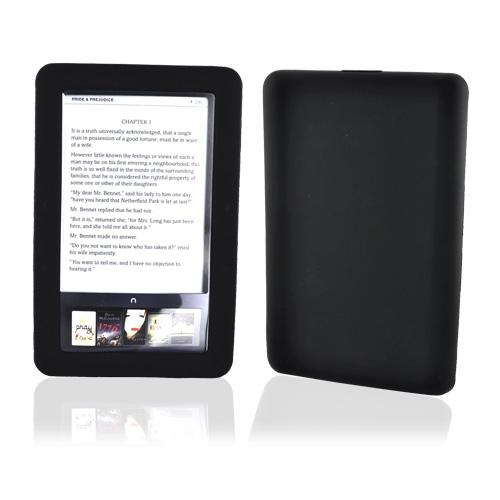 Nook eBook 1 Silicone Case, Rubber Skin - Black