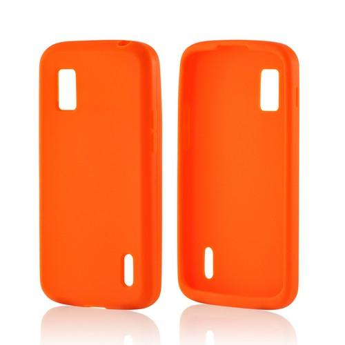 Orange Silicone Case for LG Nexus 4