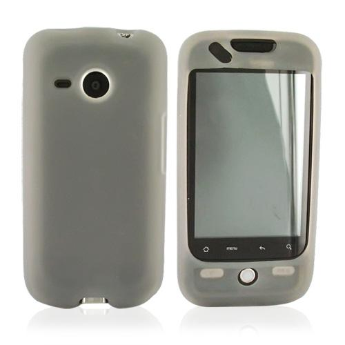 HTC Droid Eris S6200 Silicone Case, Rubber Skin - Transparent Smoke