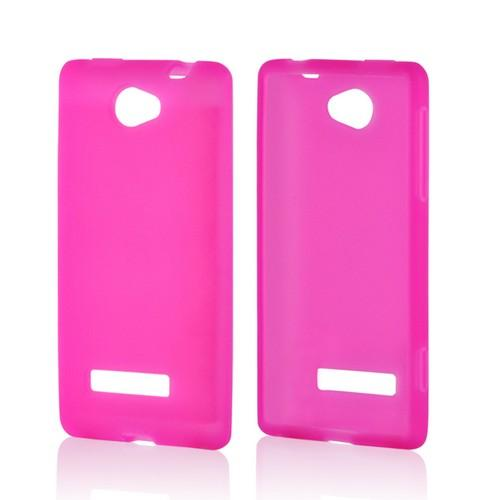 Hot Pink Silicone Case for HTC 8S
