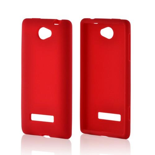 Red Silicone Case for HTC 8S