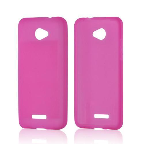 Hot Pink Silicone Case for HTC Droid DNA