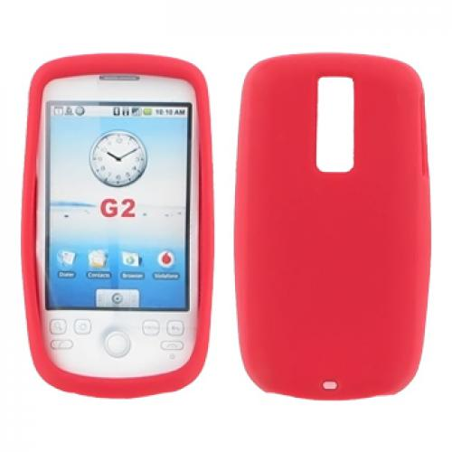 T-Mobile MyTouch 3G Silicone Case, Rubber Skin - Red