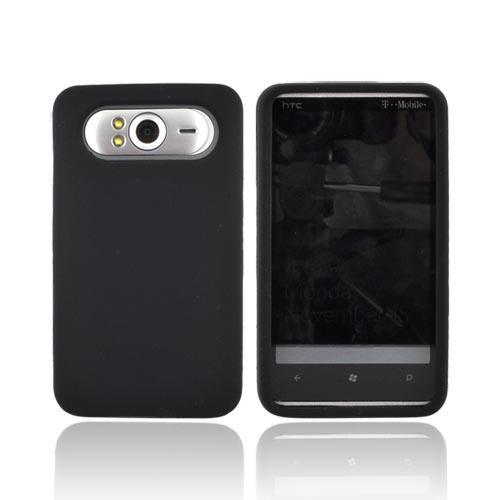 HTC HD7 / HTC HD7s Silicone Case, Rubber Skin - Black