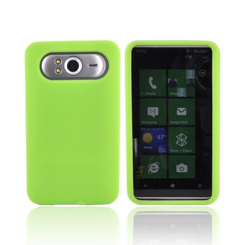 HTC HD7 / HTC HD7s Silicone Case, Rubber Skin - Neon Green