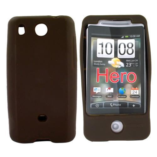 HTC Hero (GSM) Silicone Case, Rubber Skin - Brown