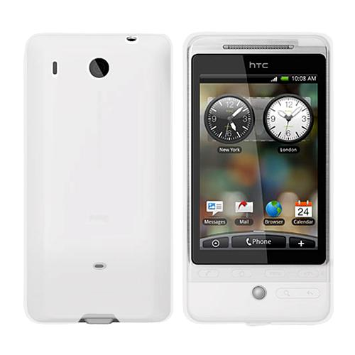 HTC Hero (GSM) Silicone Case, Rubber Skin - Frost White