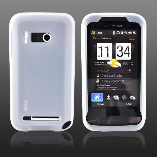 Verizon HTC Imagio Silicone Case, Rubber Skin - Frost White