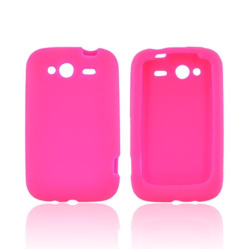 HTC Wildfire S (GSM) Silicone Case - Hot Pink