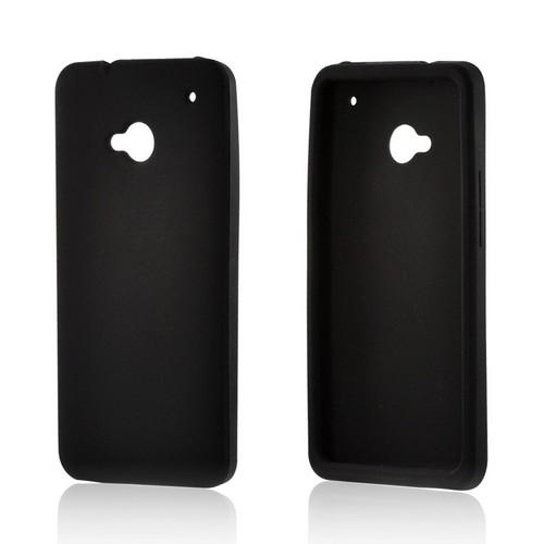 Black Silicone Case for HTC One