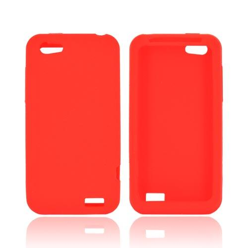 HTC One V Silicone Case - Red