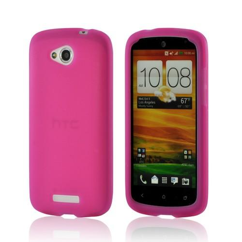 Pink Silicone Case for HTC One VX